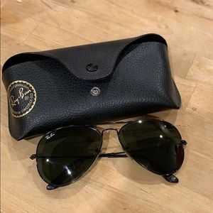 Black Ray Ban Aviators - Unisex